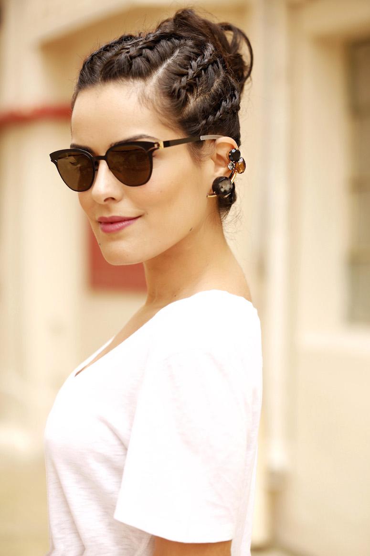 Penteados com trança é uma alternativa simples para um visual mais charmoso.