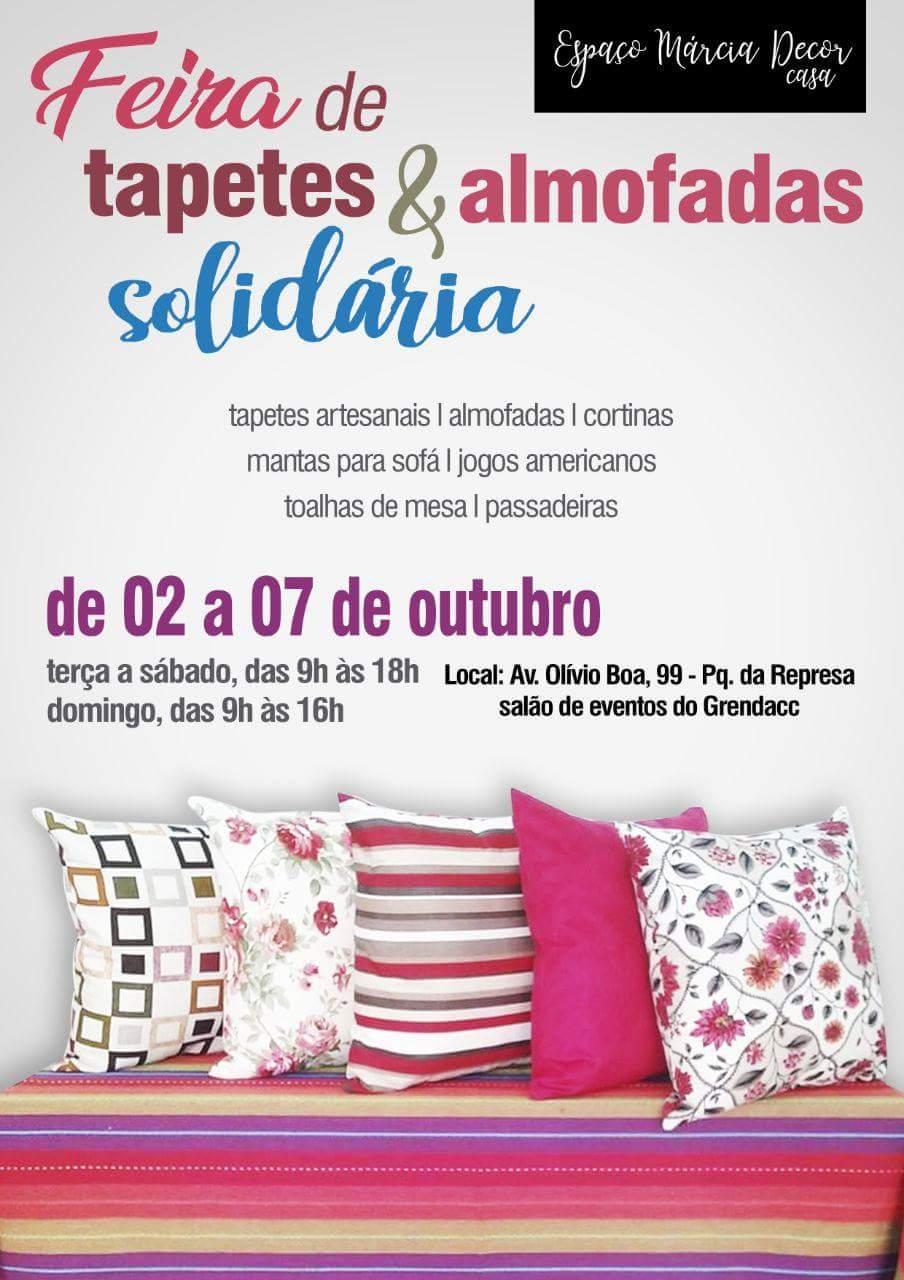 Feira de Tapetes e Almofadas Solidária