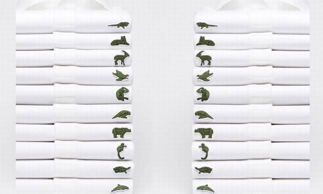 Lacoste muda seu símbolo tradicional, o crocodilo, para 10 espécies ameaçadas de extinção.