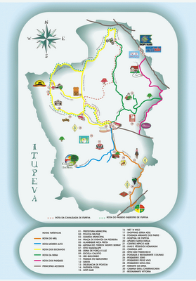Mapa Turistico de Itupeva - SP