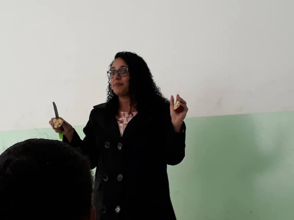 Coach Gislaine Bispo realiza palestra sobre bullying em escola Municipal de Itupeva