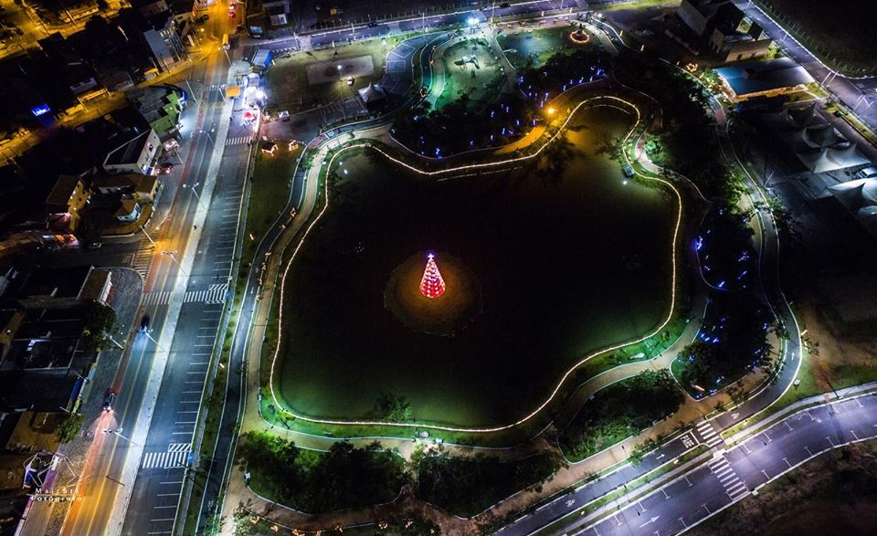 Parque da Cidade Itupeva - Foto Aérea - Natal Iluminado